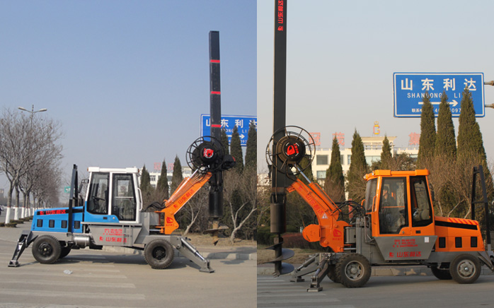 LD-180°轮式旋挖钻机实物产品展示图片