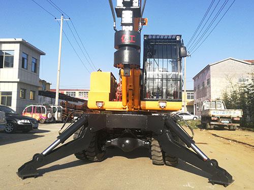 LD-360°轮式旋挖钻机下线图片展示