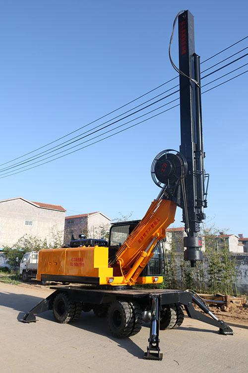 LD-360°轮式旋挖钻机库存图片展示