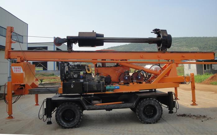 LD-360°轮式夯桩机图片展示【侧面】